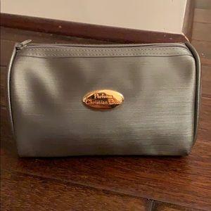 Christian Dior Parfums Gray Makeup Bag